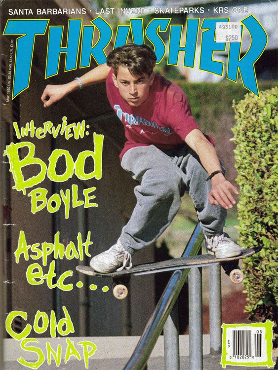 Skateboard Frankie Hill in cover of Thrasher Magazine