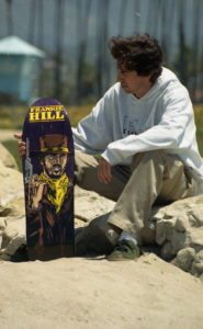 frankie hill with his pro-deck