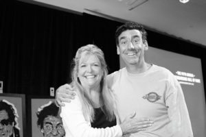 Old school skateboarders Ellen o neill deason and Lance Mountain in 2015