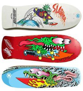 Santa cruz 80's skateboard deck Jim philips graphism