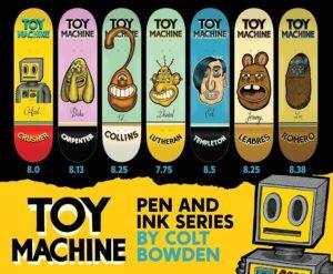 Toy Machine Pen Ink serie decks