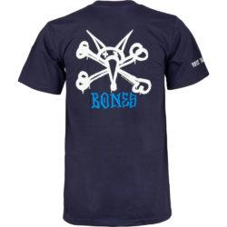 """Tshirt Bones """"Rat Bones"""" couleur Navy disponible en tailles S,M,L,XL"""