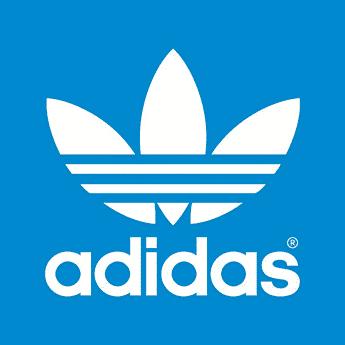 logo adidas skateboarding fond bleu