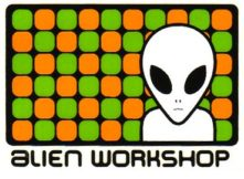 alien workshop alien green and red