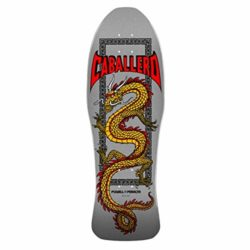 "Powell Peralta Caballero Chinese Dragon Silver 10"" old school skateboard deck"