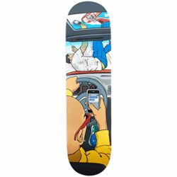 Almost Text Death R7 Youness Amrani pro-model skateboard deck 8.375""