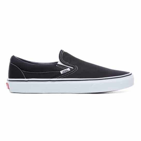 Vans Classic Slip-On Canvas | Noir (Black/White) | Skate.fr