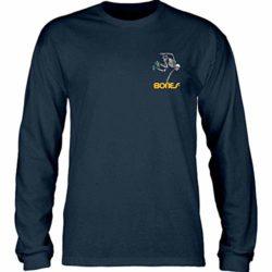 T-shirt manches longues Powell-Peralta Skeleton couleur Bleu Marine