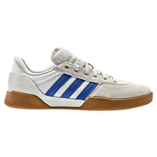 "Chaussures de skateboard Adidas ""City Cup"" couleur White/Blue/Gum"