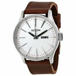 montre homme Nixon The Sentry Argent/Marron