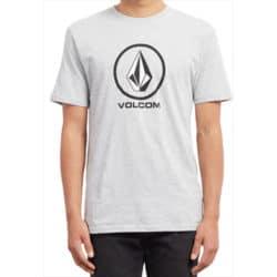 """T-shirt homme manches courtes Volcom """"Crisp"""" gris chiné"""