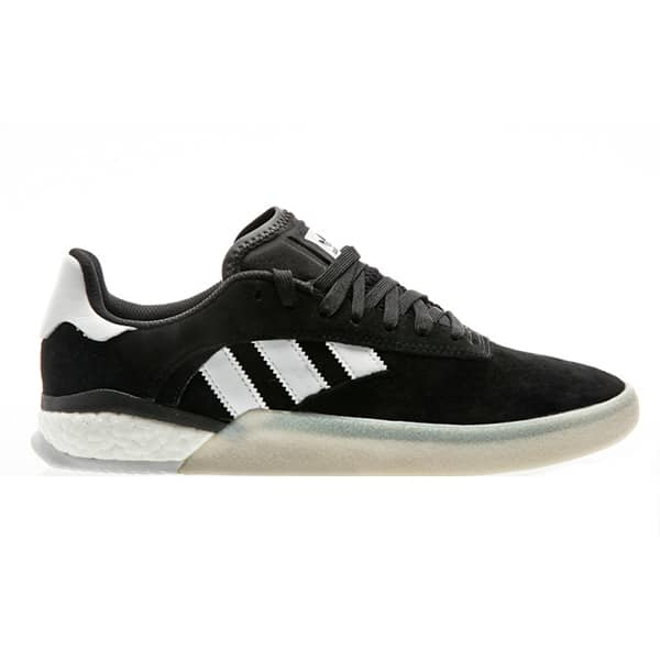 "Chaussures de skateboard Adidas ""3ST 004"" couleur Core Black- White"