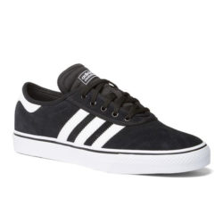 Chaussures de skateboard Adidas Adi-Ease couleur noir / bandes blanches