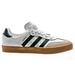 "Chaussures de skateboard Adidas ""Busenitz Vulc RX"" couleur Blanc/vert/gomme"