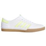 """Chaussures de skateboard Adidas 'Lucas Première"""" couleur blanc/jaune/gomme"""