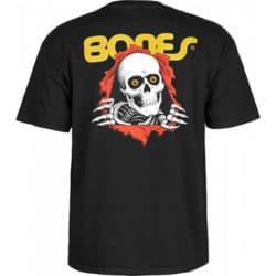 "T-shirt skateboard Bones ""Ripper"" Noir homme verso"