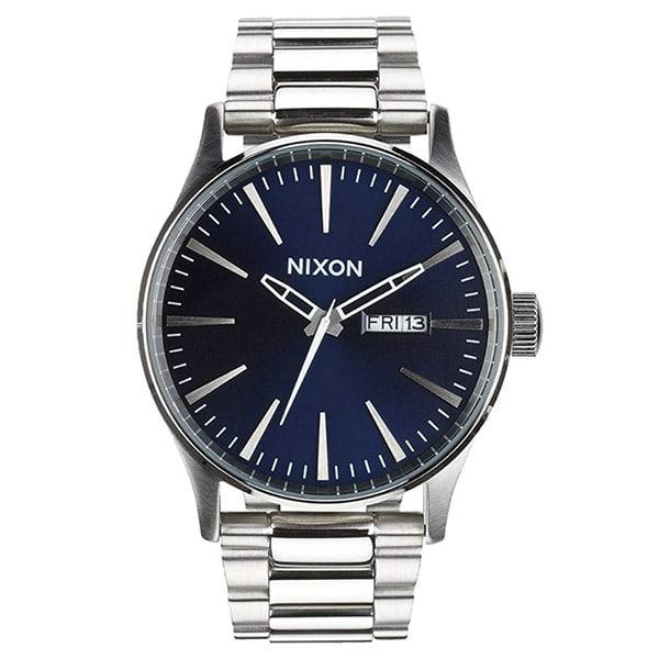 Nixon The Sentry Bleu/Argent montre pour hommes