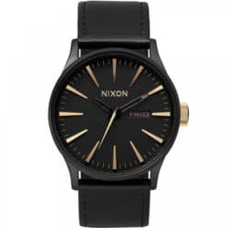 Montre Nixon Sentry Leather Noir