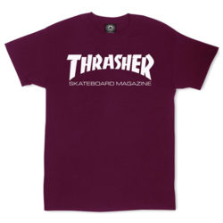 T-shirt Thrasher Magazine couleur bordeaux