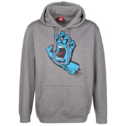 Sweat shirt capuche Santa Cruz Screaming Hand gris