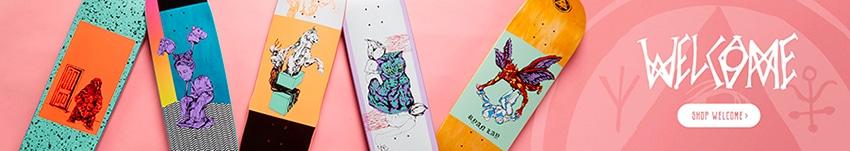 Produits Welcome Skateboards en stock