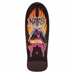 Santa Cruz Natas Panther X Edmiston 10.53″ Plateau Skateboard - A close up of a black board - Skateboard Decks