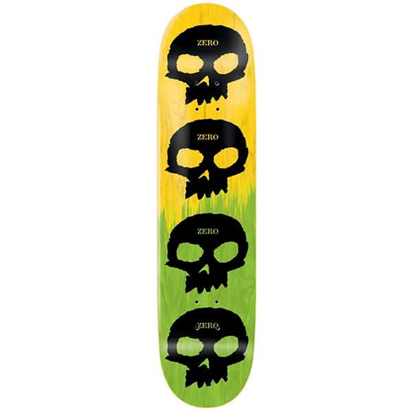 Zero Multi Skull 8.25″ - A close up of a logo - Skateboard