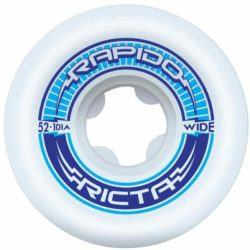 Ricta Rapido Wide 101a 54 Mm Skateboard Wheel 54mm White - A close up of a plate - Ricta