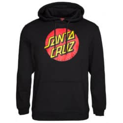 Sweat shirt à capuche Santa Cruz Classic Dot noir