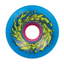 Santa Cruz Slime Balls OG 78a 66 Mm Skateboard Wheel 66mm Slime Blue - A close up of a plate - Skateboard