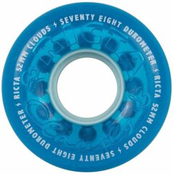 RICTA 52MM  CLOUDS CRYSTAL BLUE 78A | Roues de skateboard - A close up of a sign - Wheel