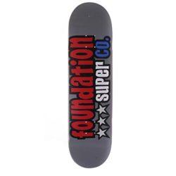 """Planche de skate Foundation Skateboards Star 8 deck. 7 plis d'érable, taille 8"""" et concave médium"""