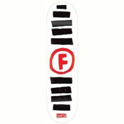 "Foundation Doodle Stripe White deck 8.5"""