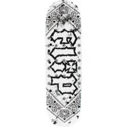 "Plateau de skate Flip HKD Bandana White en taille 8,5"""