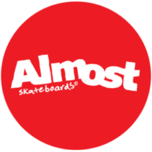 logo almost skateboards rond