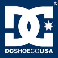 logo dc shoes blanc fond bleu