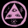 logo welcome skateboards violet-noir
