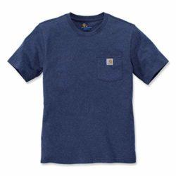 T-Shirt Carhartt Work Pocket Bleu Indigo