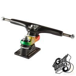 """Truck de Longboard Gullwing Sidewinder II Raw couleur Rasta disponibles en 2 tailles 9"""" et 10"""""""