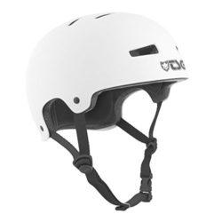 Casque de skateboard blanc TSG Evolution Solid haute qualité