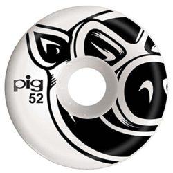 """Jeu de 4 Roues de skateboard Pig Wheels """"Natural Conical"""" taille 52 mm"""