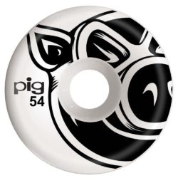 """Jeu de 4 Roues de skateboard Pig Wheels """"Natural Conical"""" taille 54 mm"""