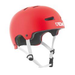Casque de skate rouge TSG Evolution Solid de haute qualité