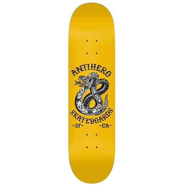 "Plateau de Skate Antihero skateboards 18 jaune en taille deck 8,25"" x 32"""