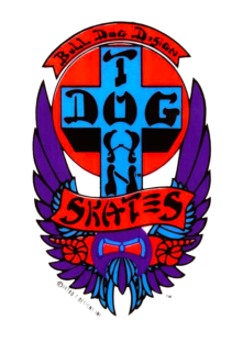 logo dogtown skateboards purple
