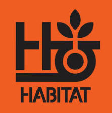 logo habitat skateboards orange