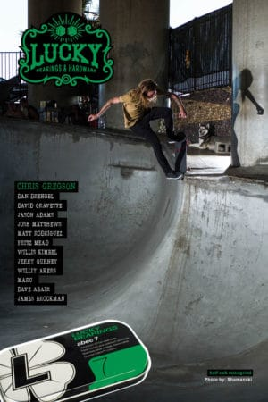 chris gregson lucky bearings ads