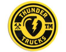 logo thunder trucks jaune