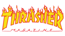 logo thrasher flame