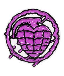 logo thunder trucks grenade violette
